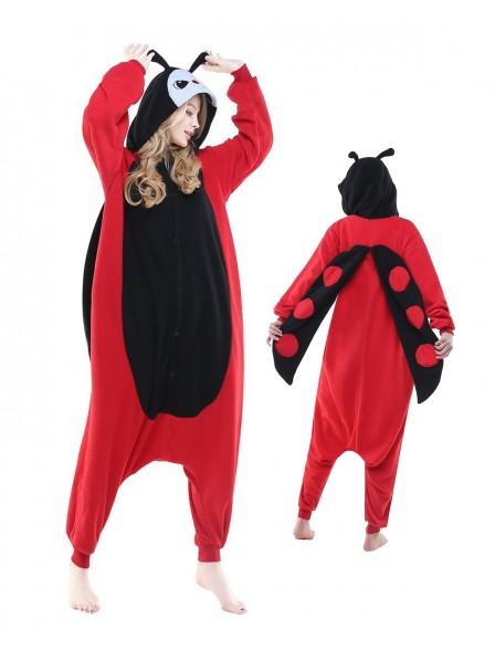 Ladybug Kigurumi Onesie Pajamas Polar Fleece Animal Unisex Costumes
