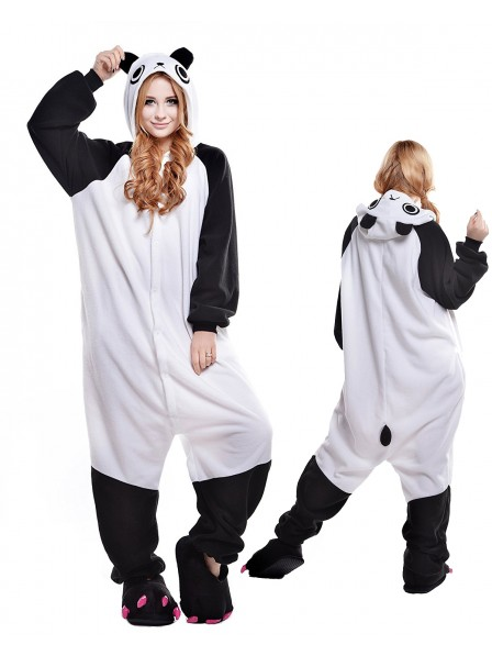 Cute Panda Kigurumi Onesie Pajamas Polar Fleece Animal Unisex Costumes