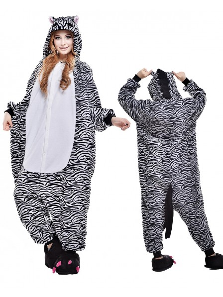 Zebra Kigurumi Onesie Pajamas Polar Fleece Animal Unisex Costumes