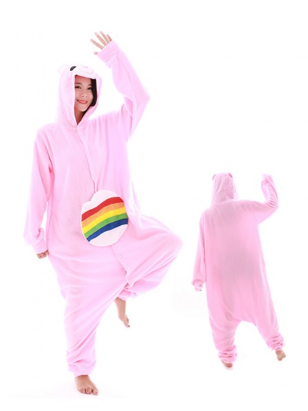 Rainbow Bear Unicorn Kigurumi Onesie Pajamas Polar Fleece Animal Unisex Costumes