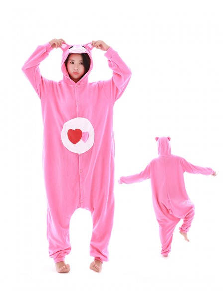 Love Bear Kigurumi Onesie Pajamas Polar Fleece Animal Unisex Costumes