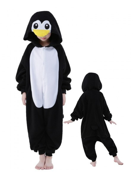 Penguin Onesie Kids Kigurumi Polar Fleece Animal Costumes For Teens