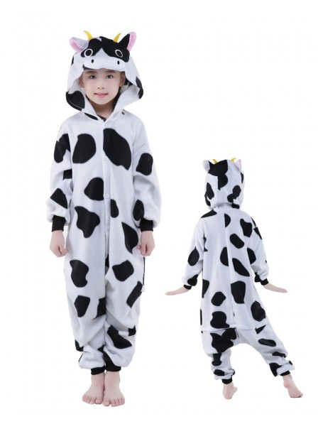 Cow Onesie Kids Kigurumi Polar Fleece Animal Costumes For Teens