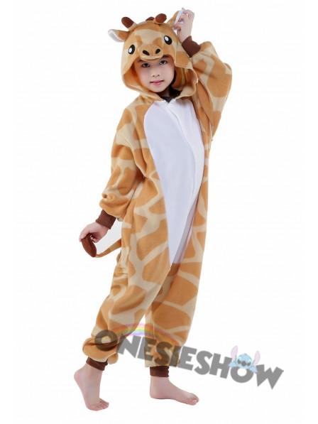 d456da88052e Giraffe Onesie Kids Kigurumi Polar Fleece Animal Costumes For Teens ...