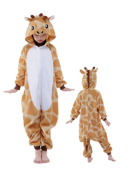 Giraffe Onesie Kids Kigurumi Polar Fleece Animal Costumes For Teens