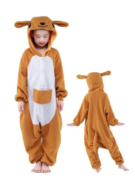 Kangaroo Onesie Kids Kigurumi Polar Fleece Animal Costumes For Teens