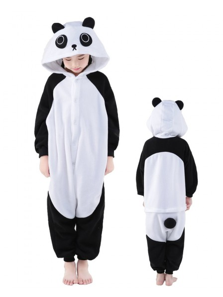 Panda Onesie Kids Kigurumi Polar Fleece Animal Costumes For Teens