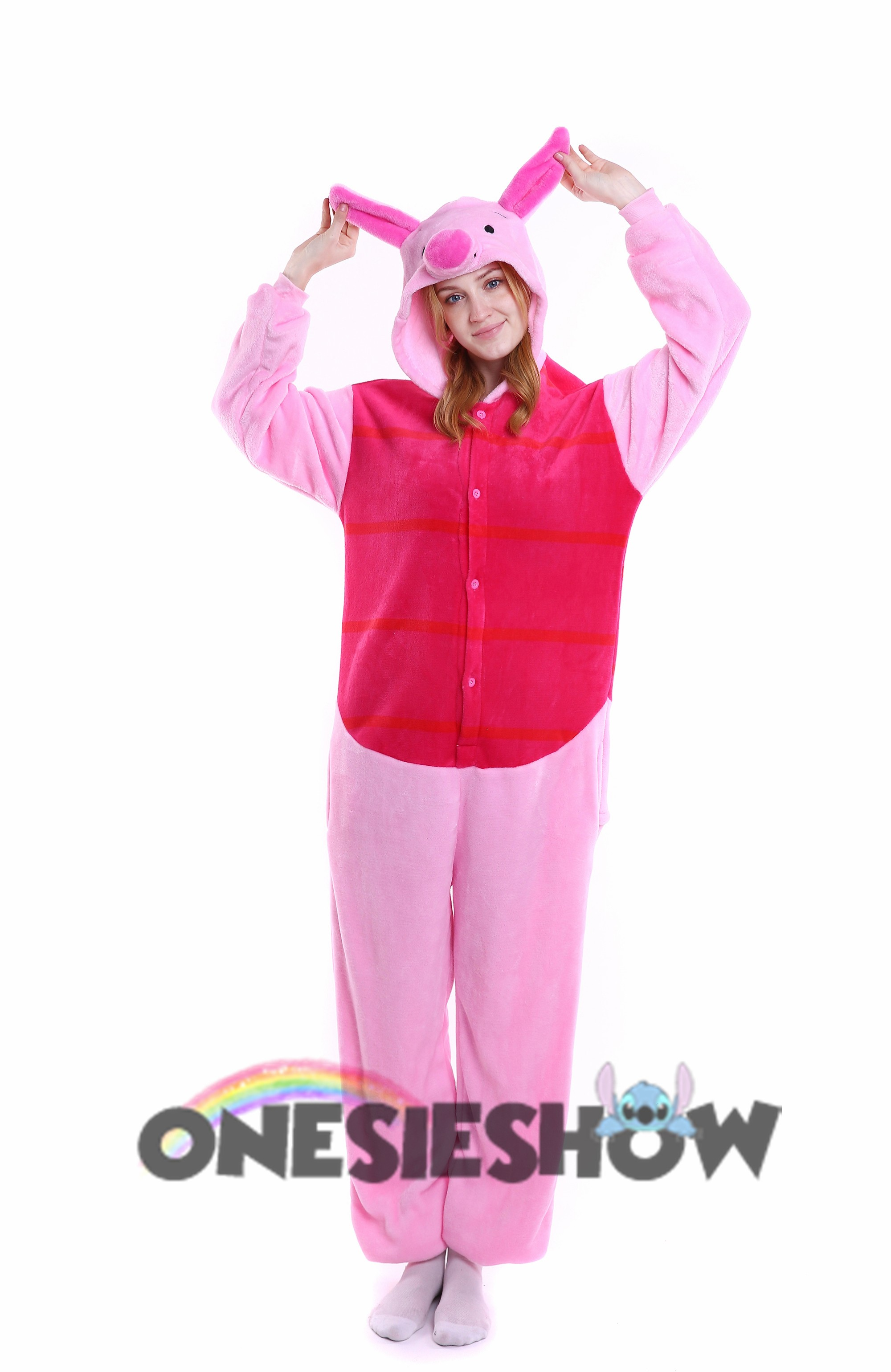 c87ee446f5 Winnie The Pooh Piglet Kigurumi Onesie Pajamas Soft Flannel Unisex Animal  Costumes ... Sc 1 St Onesieshow.com