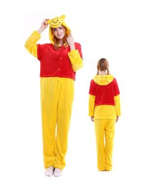 Winnie the Pooh Kigurumi Onesie Pajamas Soft Flannel Unisex Animal Costumes ...  sc 1 st  Onesieshow.com & Kigurumi Onesies For Adult Animal Costumes Pajamas for Women u0026 Men ...