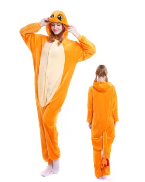 cb9020f17e Charmander Kigurumi Onesie Pajamas Soft Flannel Unisex Animal Costumes ...