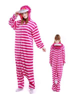 27535eac4 Cheshire Cat Kigurumi Onesie Pajamas Soft Flannel Unisex Animal Costumes ...