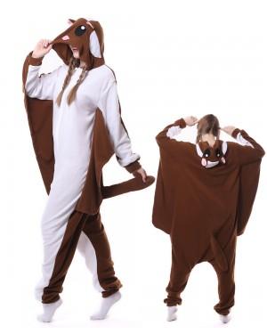 55710d44a Brown Flying Squirrel Kigurumi Onesie Pajamas Animal Unisex Costumes ...